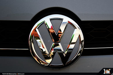 VW Front Badge Insert - Indium Gray Metallic