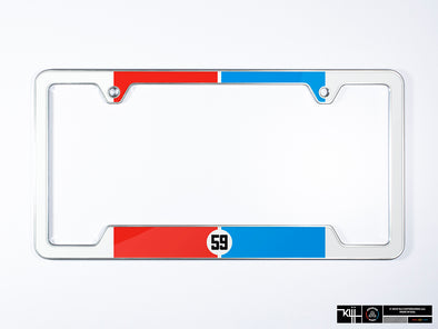 Brumos Porsche Premium License Plate Frame - Racing Livery No.3 (Front) (Silver)