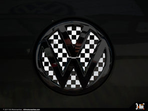 Klii Motorwerkes VW Rear Badge Insert - Checkered Flag