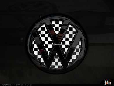 VW Rear Badge Insert - Checkered Flag