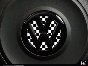 VW Steering Wheel Badge Insert - Checkered Flag
