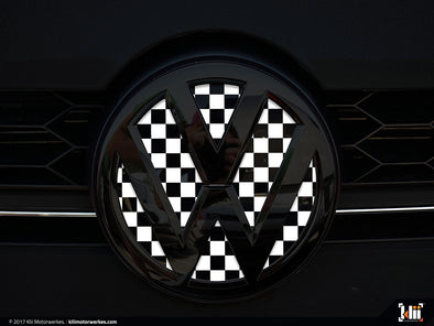 VW Front Badge Insert - Checkered Flag