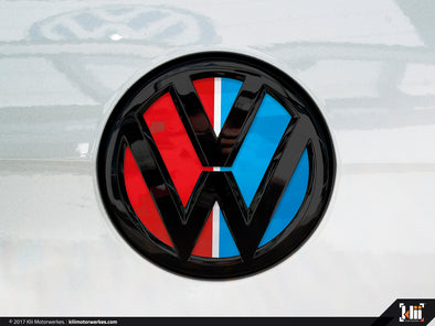 Klii Motorwerkes VW Rear Badge Insert - Racing Livery No.3