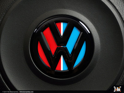 VW Steering Wheel Badge Insert - Racing Livery No.3