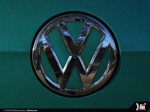 VW Rear Badge Insert - Great Falls Green Metallic