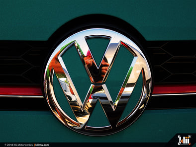 VW Front Badge Inlay - Great Falls Green Metallic