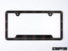 VW Volkswagen Premium License Plate Frame - Mk5 GTI Plaid (Black)