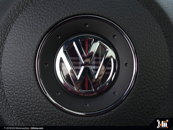 Klii Motorwerkes VW Steering Wheel Badge Insert - Mk5 GTI Plaid