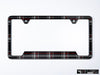 VW Volkswagen Premium License Plate Frame - Mk6 GTI Plaid (Black)