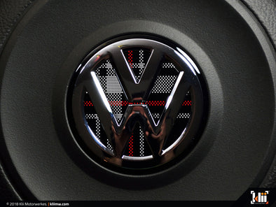 VW Steering Wheel Badge Insert - Mk6 GTI Plaid