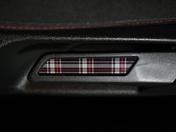 VW Seat Lever Insert Set - Mk6 GTI Plaid