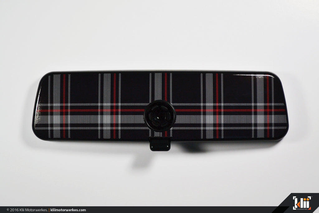 VW Rear View Mirror Overlay - MkVI (Mk6) GTI Plaid