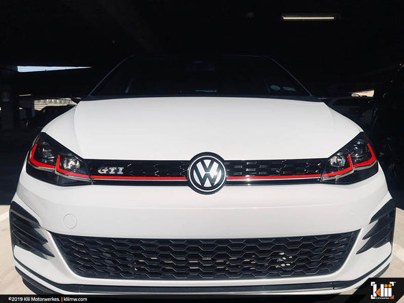 Klii Motorwerkes VW Front Badge Overlay Kit - Matte Blackout