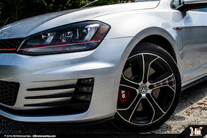 "VW ""Austin"" Wheel Overlay Kit - Gloss Black + Mk7 GTI Plaid"