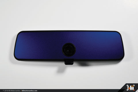 VW Rear View Mirror Overlay - Lapiz Blue Metallic