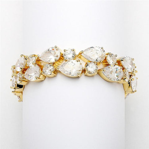 Bold Gold Wedding Bracelet