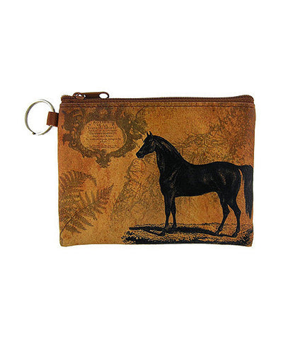 HORSE COIN PURSE VEGAN LEATHER