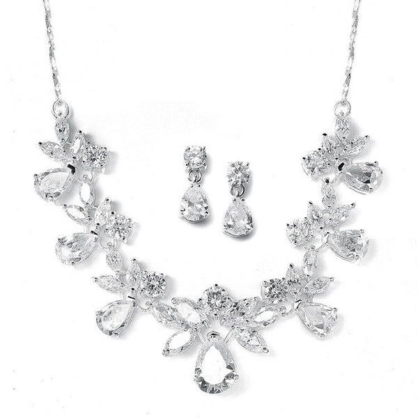 CZ Wedding necklace set