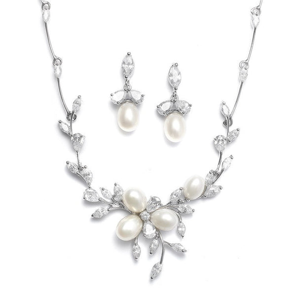 FRESH WATER PEARL NECKLACEF SET