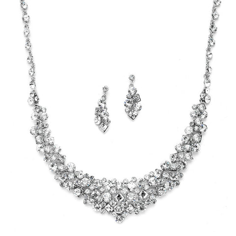 gorgeous crystal wedding Necklace set