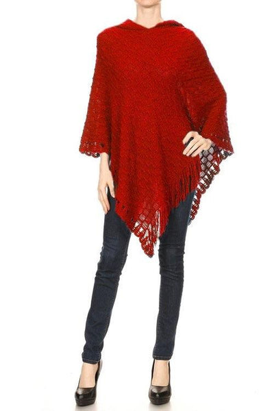 Red Hoodie Poncho