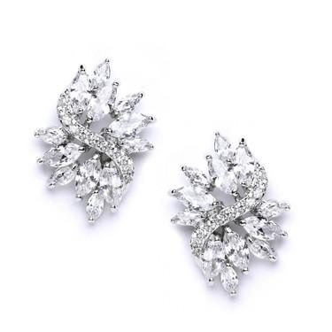 silver Marquise Earrings