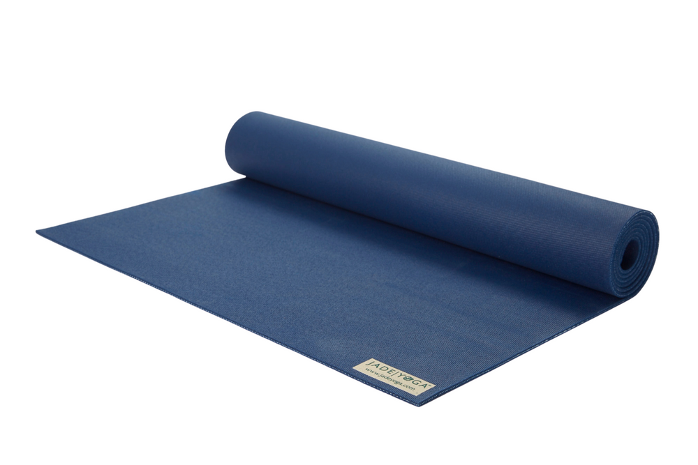 Jade Harmony 68 Yoga mat Midnight Blue. Natural rubber: grippy & sustainable.