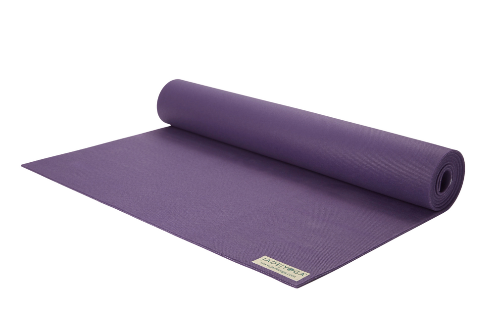 Jade Harmony Travel Yoga mat Purple. 3mm Natural rubber: grippy & sustainable.