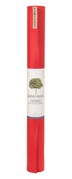 Jade Yoga Voyager Mat 1.6mm 68in, Fire Engine Red