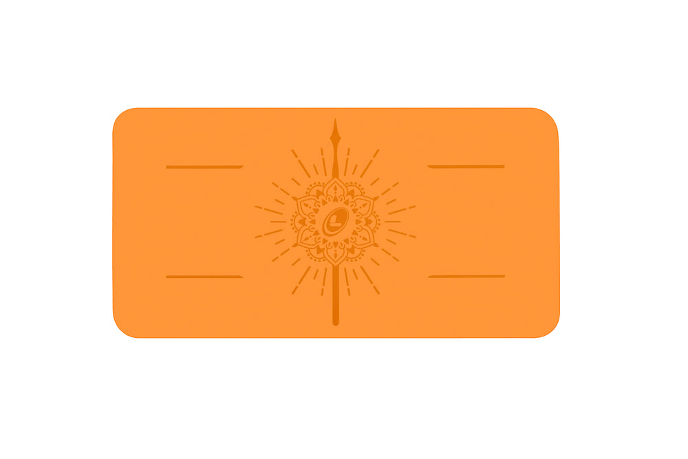 Liforme 'Expressions' Happiness Pad 4.2mm 13in, Vibrant Orange
