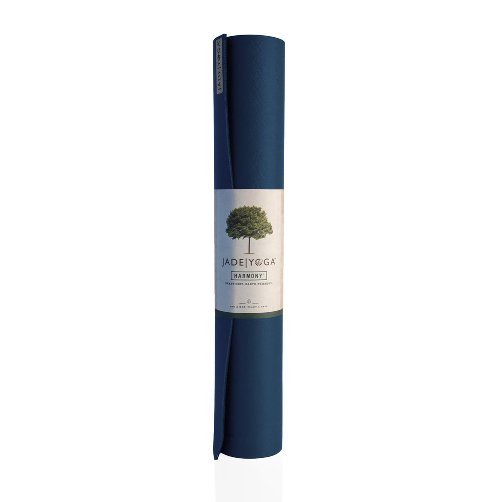 Jade Yoga Harmony Mat 4.8mm 68in, Midnight Blue