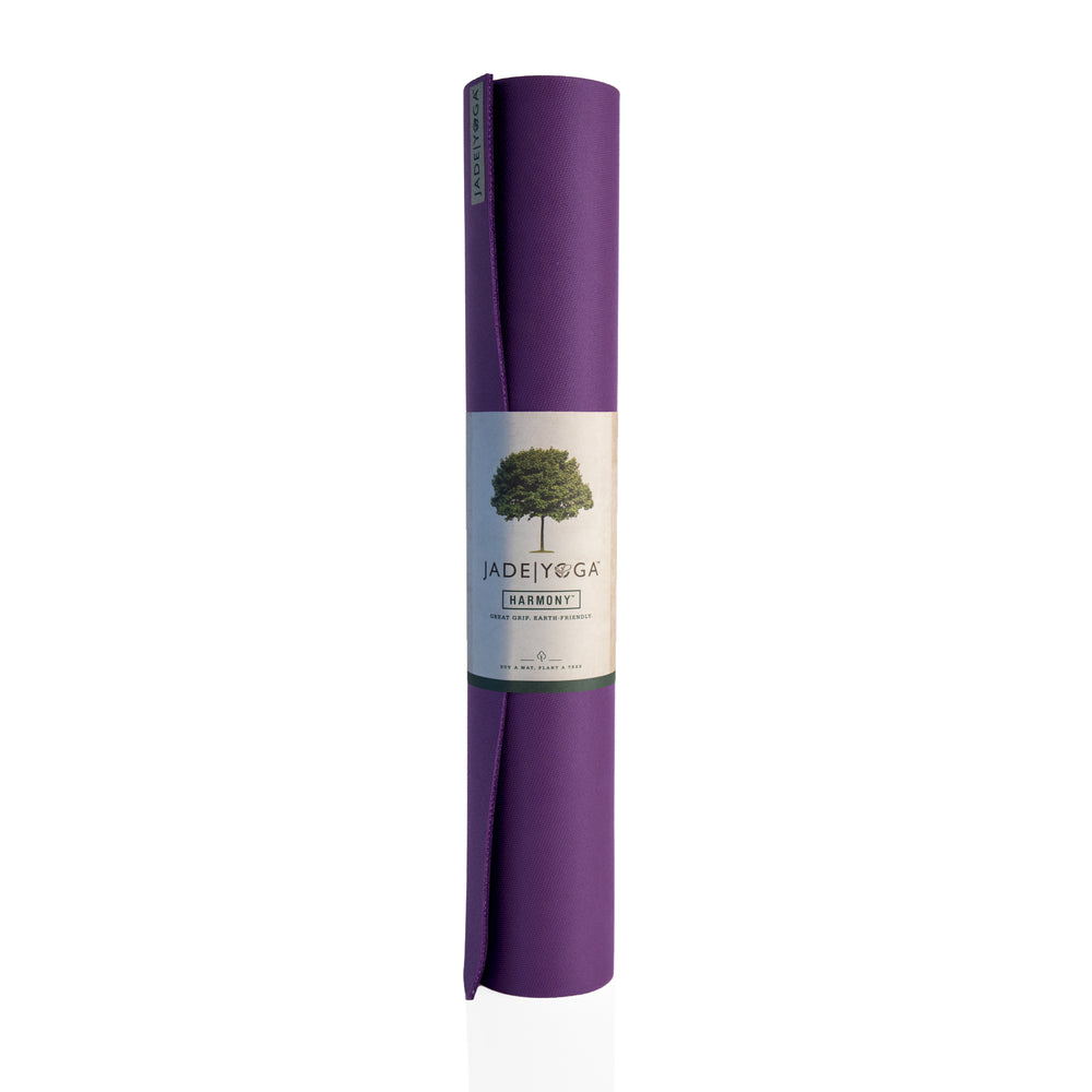 Jade Yoga Harmony Mat 4.8mm 68in, Purple