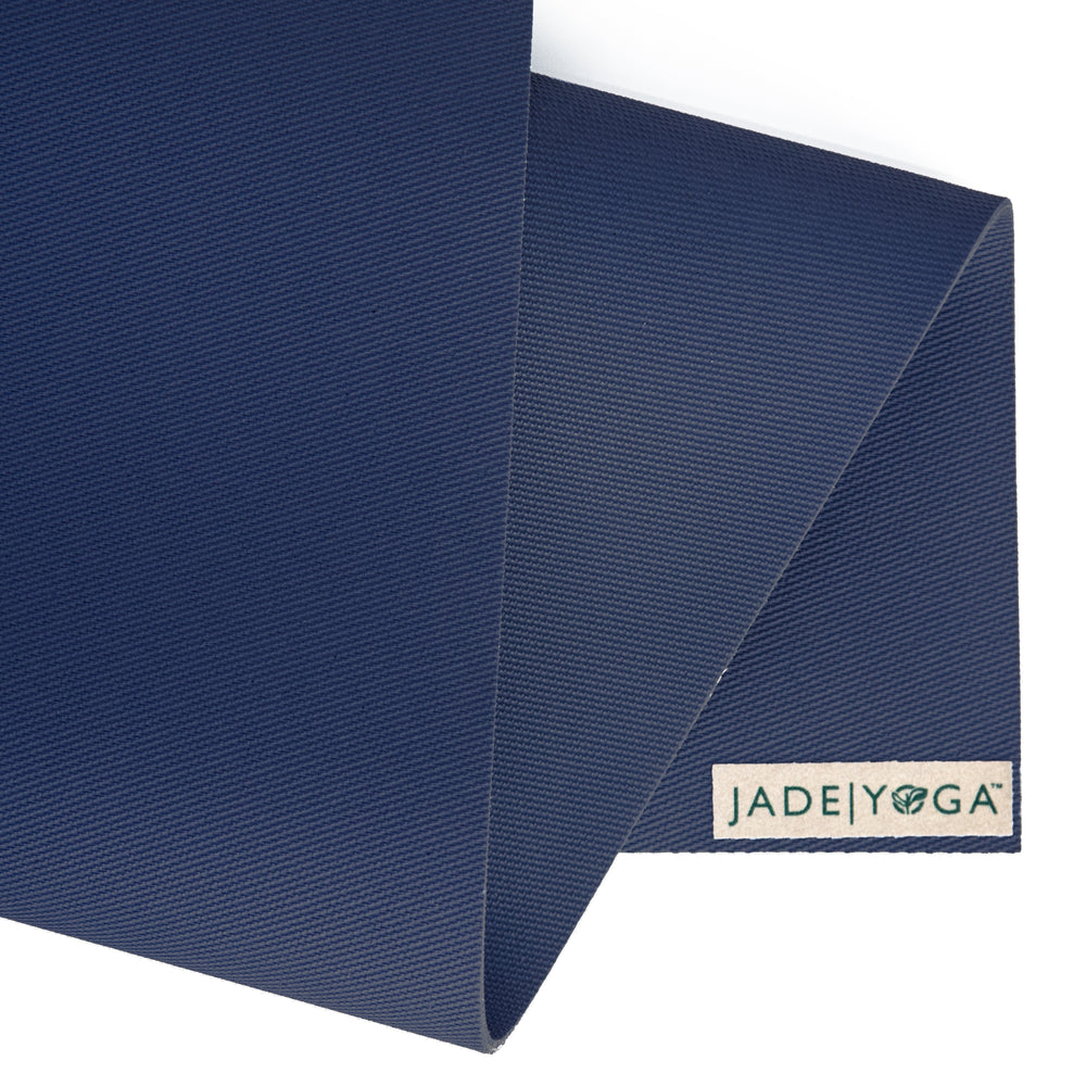 Jade Yoga Travel Mat 3mm 68in, Midnight Blue
