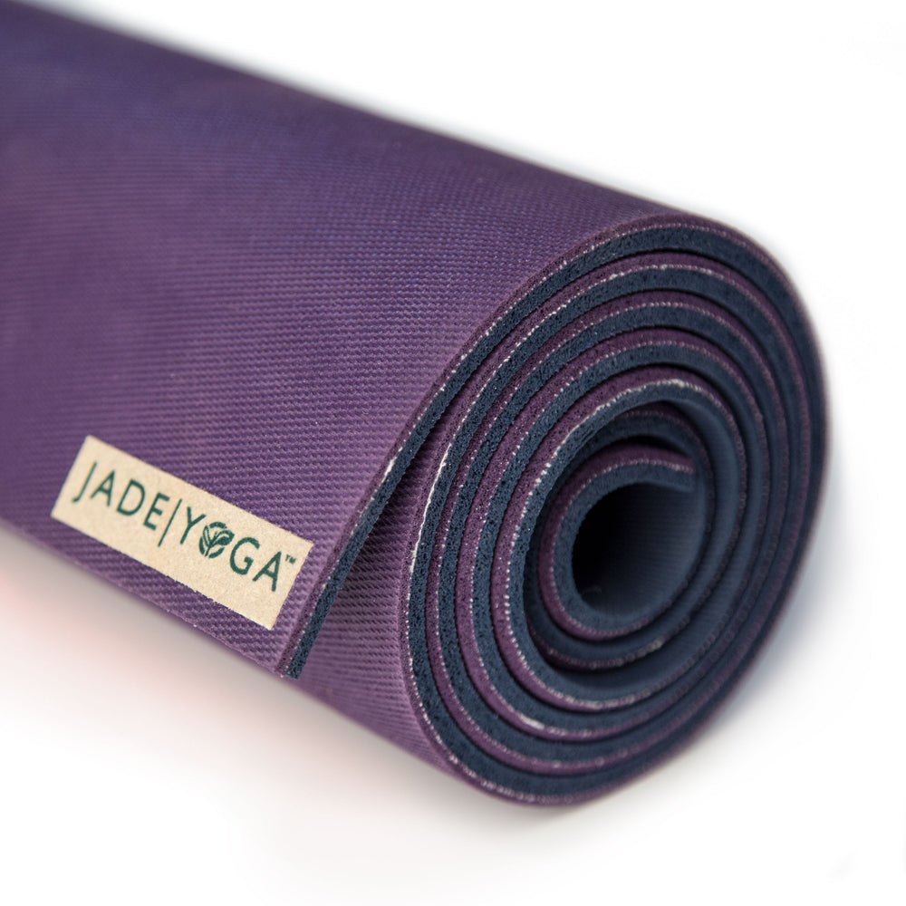 Jade Yoga XW Fusion Mat 8mm 80in, Purple/Midnight