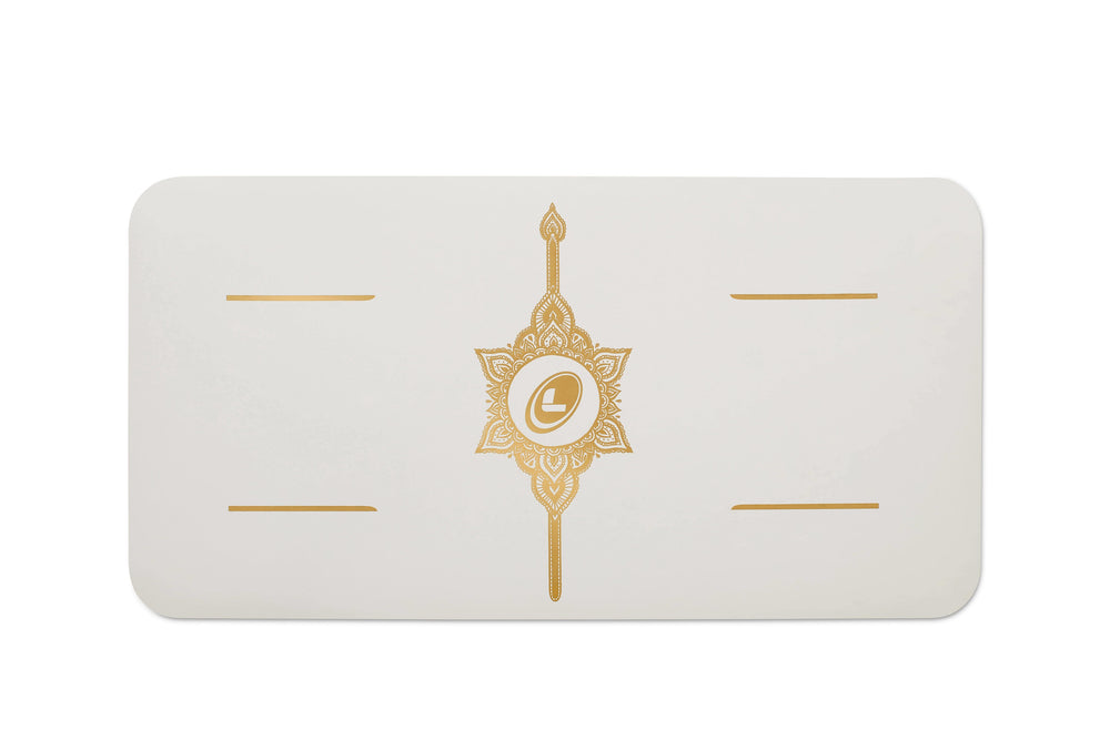*3 in stock. Text 96852848* Liforme 'White Magic' Yoga Pad 4.2mm 13in, White/Gold