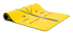 *PRE-ORDER: Text 9685 2848* Liforme 'Rainbow Hope' Yoga Mat 4.2mm 73in, Yellow/ Rainbow