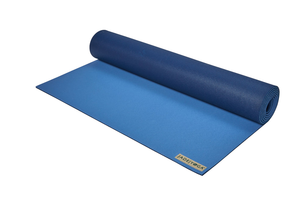 Jade Yoga Harmony Mat 4.8mm 68in, 2-Tone Slate/Midnight Blue