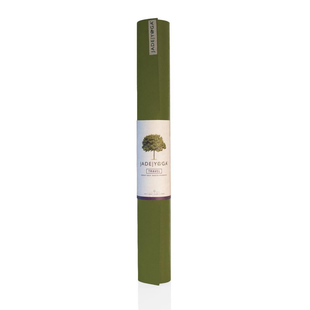 Jade Yoga Travel Mat 3mm 68in, Olive Green