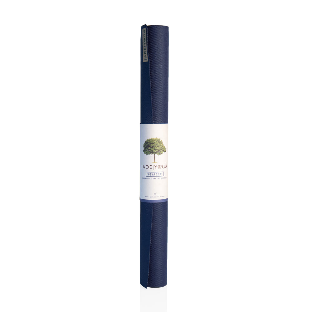Jade Yoga Voyager Mat 1.6mm 68in, Midnight Blue