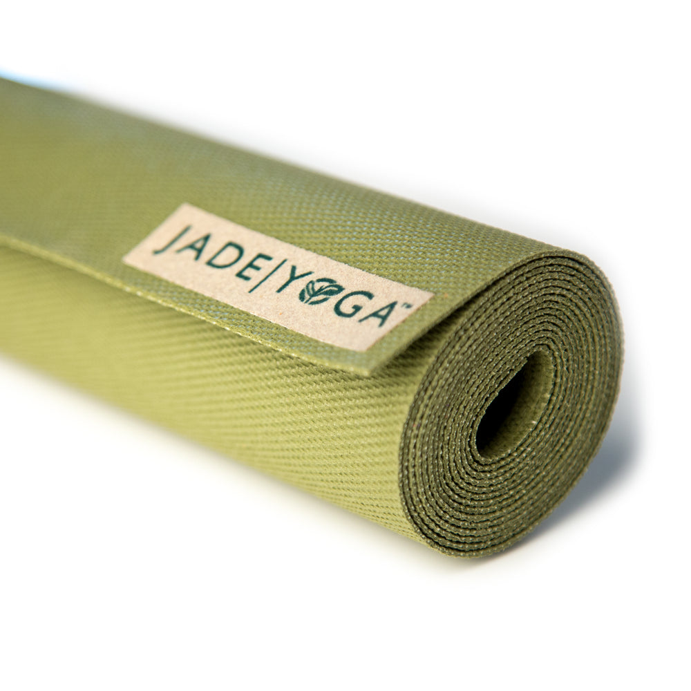 Jade Yoga Voyager Mat 1.6mm 68in, Olive Green