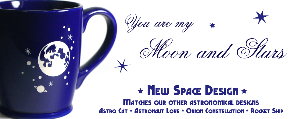 New Moon and Stars Design
