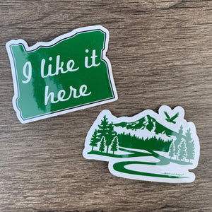 New Oregon & Rainbow Glitter Stickers