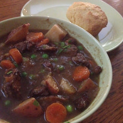 Beef stew and corn muffins from Best Recipes