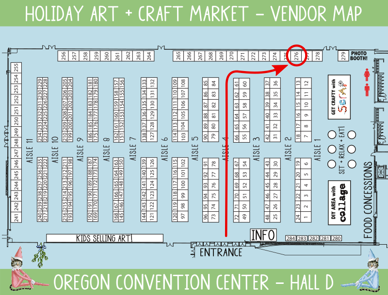 Crafty Wonderland booth map