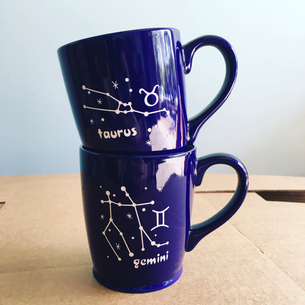 Zodiac constellation mugs