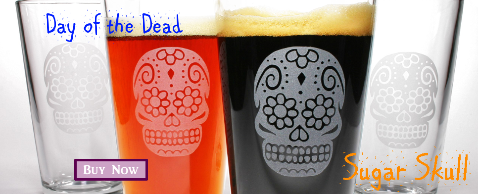 sugar skull pint glass gift sets
