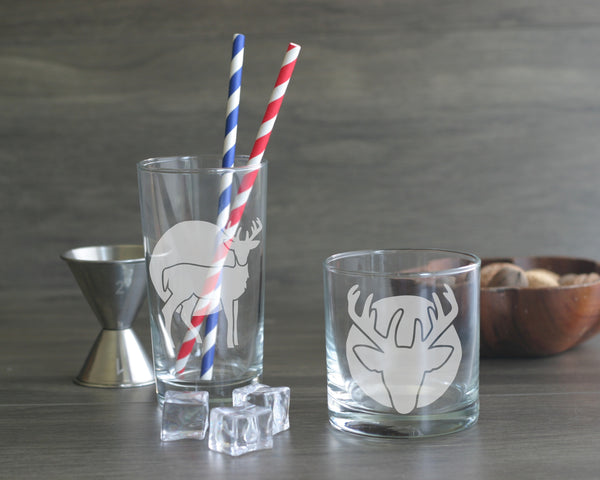 Deer cocktail glasses