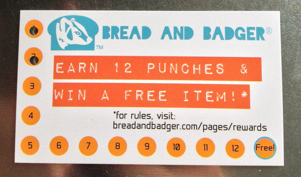 Earn 12 punches and get a FREE item!