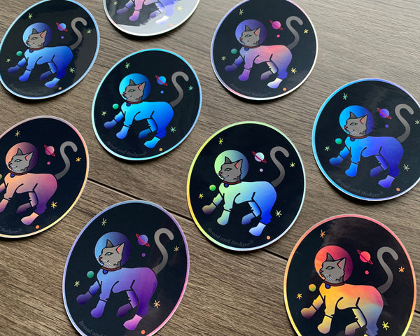 Astronaut Cat stickers