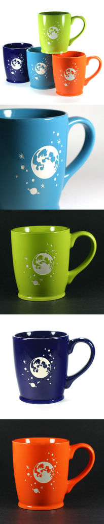 Moon and Stars handled coffee mugs by Bread and Badger